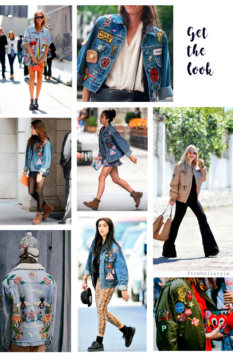 look chaqueta parches