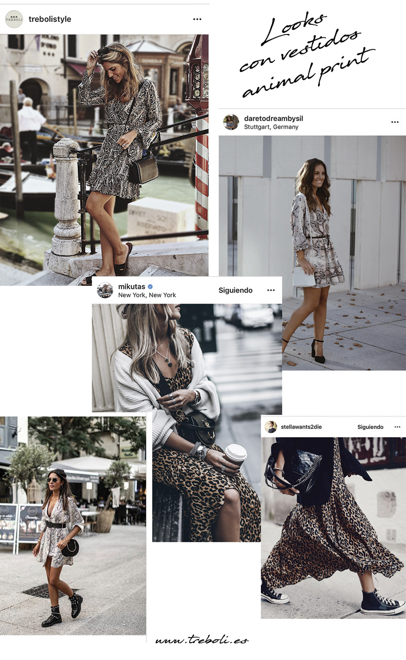 Looks con vestidos animal print